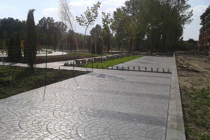 Декоративен щампован бетон имитация на паве – гр. София